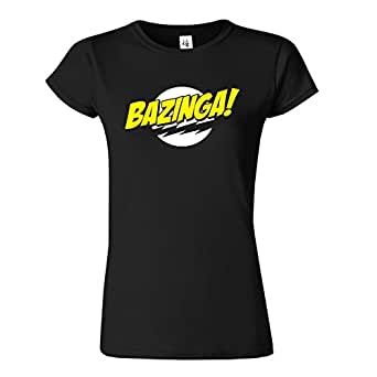 Bazinga Womens Ladies Girls Fitted Tee T-shirt Sweatshirt Top T Shirt S M L XL Many Colors & sizes Available by SnS Online (XL - To Fit : UK 16, Black)