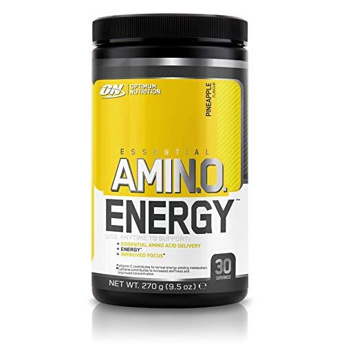 Optimum Nutrition Amino Energy, energia ed ammino-acidi per i tuoi allenamenti e giornate, gusto Ananas, 270g