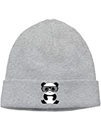 Nerd Panda con Bigote y Gafas Gorra Blanda y Suave cálida Acolchada con  Sombrero de Invierno Hombre Nerd Panda… a610cb81448