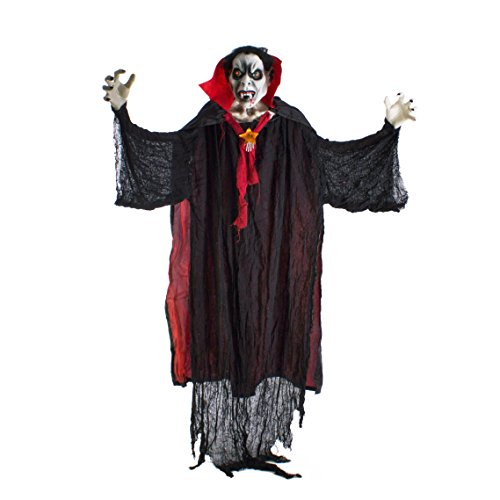 Halloween Vampir Geist VAPULA, Soundfunktion, LED, 170 cm - Hängefigur - showking