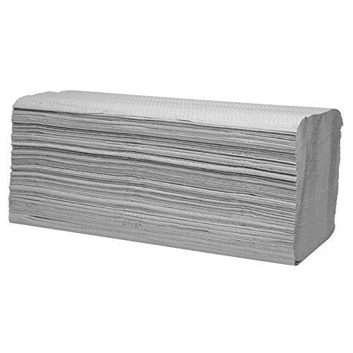 wellsamed Papierhandtücher Zellstoff 1-lagig ZZ-Falz Natur 25 x 23 cm 1000 Blatt Handtuchpapier Falthandtücher Papiertücher