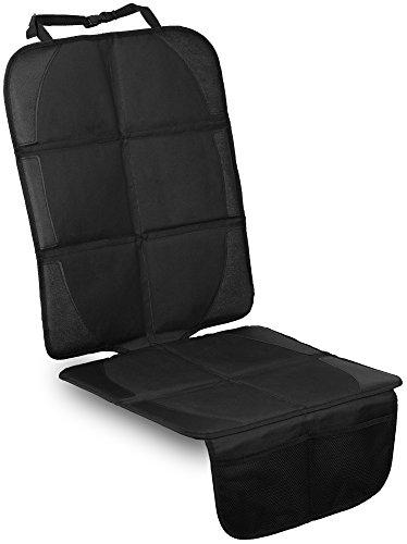 LIONSTRONG Premium ★ Kindersitzunterlage ★, Isofix geeignete Unterlage für Kindersitze, Sitzschoner zum Schutz Ihrer Autositze (Schwarz)