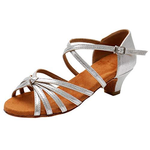 c4614dcd1c5d0 LILIHOT Kinder Sandalen Latin Tango Tanzschuhe Crystal Princess Schuhe  Wilde kleine Schuhe lässig einzelne Schuhe Rutschfeste Sandalen  atmungsaktive ...