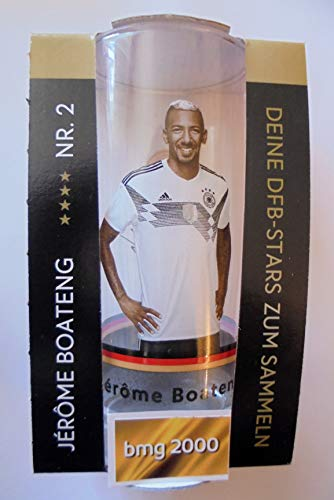 Rewe Offizielles DFB-Sammelglas 0,3 l Glas Nr. 2 Jerome Boateng WM 2018 Russland + 1 bmg2000 Aukleber