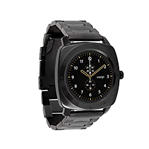 NARA Dark Steel Smart Watch Herren Android und Smartwatch iPhone – Herren Smartwatch Fitnesstracker – Bluetooth Uhr mit Schrittzähler