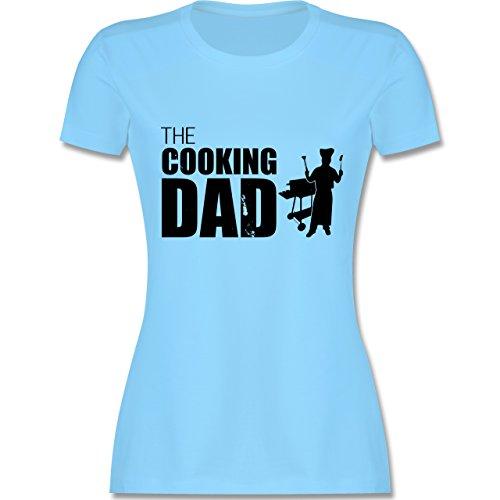 Grill - The cooking Dad - tailliertes Premium T-Shirt mit  Rundhalsausschnitt für Damen Hellblau