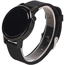 18mm Reloj Bandas Pinhen Reemplazo Liberación Rápida Reloj Bandas Correa de Caucho de Silicona Suave para Huawei Watch Withings Activite Smart Watch (Silicona Black)