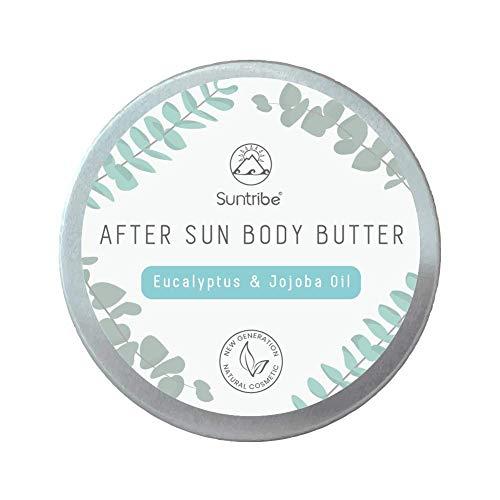 Suntribe Bio Body Butter – 100% Bio – 3 Inhaltsstoffe – Natürlicher Duft – Intensiv feuchtigkeitsspendend (150ml) (Eukalyptus & Jojoba)