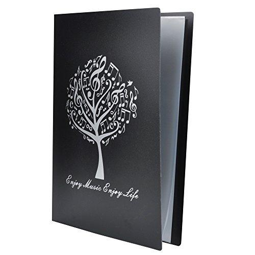 Punk A4Größe Musik Tabelle Datei Ordner A4Größe Dokumente Halter Aufbewahrung Ordner 40Taschen Schwarz Music Tree Black