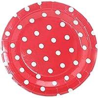 Placas desechables respetuosas con el medio ambiente - Platos de papel de 12 unidades para fiesta, 7 pulgadas#8
