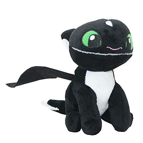 Joy Toy Auswahl Baby Nachtlichter | Softwool 15 cm Plüsch-Figur | DreamWorks Dragons, Plüsch:Baby Nachtschatten 1