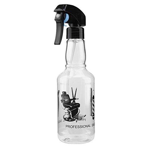 Demiawaking 300ml bottigliette spray vuote per capelli spruzzino nebulizzatore parrucchiere bottiglie riutilizzabile per parrucchiere barbiere strumenti spray per lo styling (trasparente)