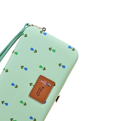 Housse Portefeuille Femme,Etui avec Bracelet Pochette Coque Case Cover Bumper Purse (avec fentes pour cartes) Grande Capacité de cire de Luxe en Cuir avec Couronne de Bling Wallet pour HTC One M8 / M9 Couleur 07