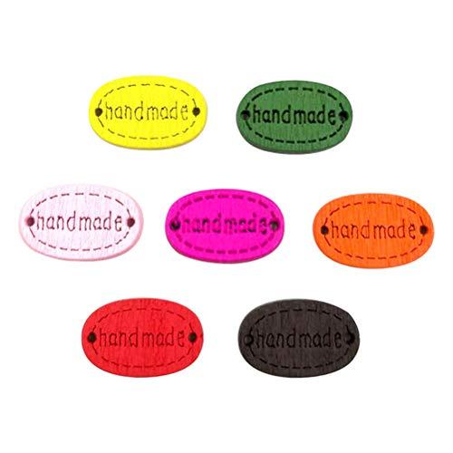 SUPVOX 100pcs handgemachte hölzerne Knopf-dekorative Verzierungs-Taste für das Nähen gelegentliche Farbe