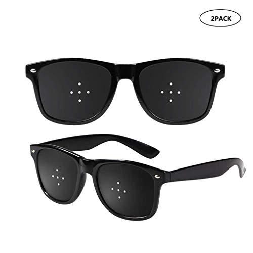 2ST Sehkorrektur Brille verbessert Brillen, 5-Loch-Glas-Anblick Verbesserte Loch Brille Anti-Fatigue Brille Sicherheit Swap Wraparound Hybrid Augensicherheit (Color : A)