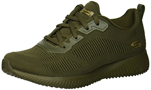 Skechers Damen Bobs Squad-Tough Talk Sneaker, (Olive Engineered Knit Old), 6 EU