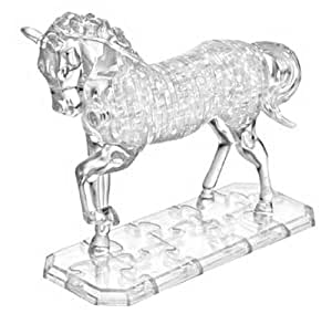 PicknBuy Puzzle Crystal 3D cheval blanc Transparent