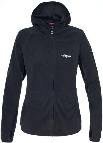 Trespass Damen Marathon Microfleece Kapuzenjacke schwarz(Black)