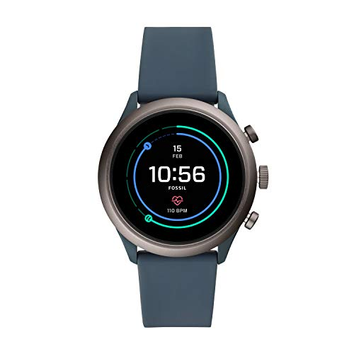 Fossil Mens Smartwatch with Silicone Strap FTW4021