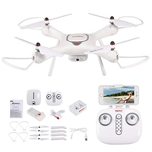 Original syma x25pro wifi fpv adjustable 720p hd camera rtf gps positioning altitude hold quadcopter