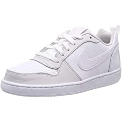 Nike Court Borough Low (GS), Zapatos de Baloncesto para Niños, Blanco White/Vapste Grey 104, 38 EU
