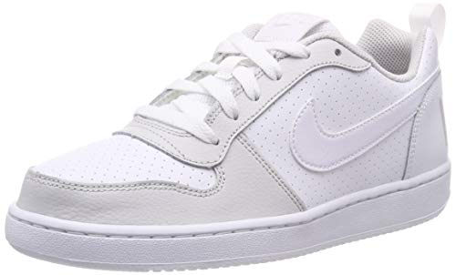 Nike Jungen Court Borough Low (Gs) Basketballschuhe, Weiß White/Vapste Grey 104, 36.5 EU