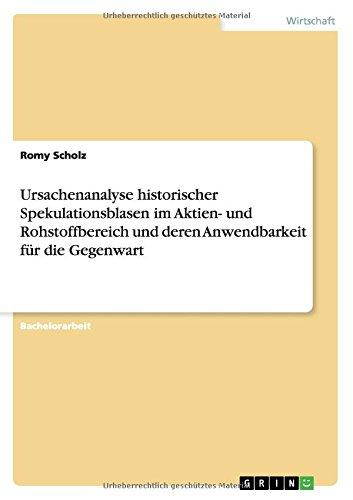 eBook Library Ursachenanalyse historischer Spekulationsblasen im Aktien- und Rohstoffbereich und deren Anwendbarkeit für die Gegenwart