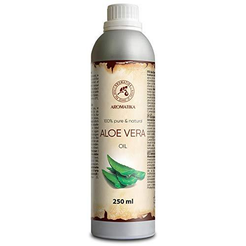 Huile Aloe Vera 250ml - Pressée à Froid et Affiné - Aloe Barbadensis Leaf Extract...