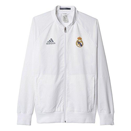 adidas Herren Fuβballjacke REAL Anth Jacket W Weiß, XL