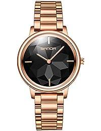MEETGG Frauen Uhren Wasserdicht Armbanduhr Damen Mädchen Mode Elegant Uhr Schlank Einfachheit Geschäft