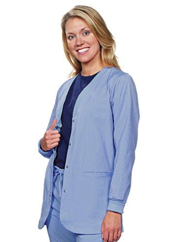 NU DIMENSION BOGO Sale Special (See Below): Women 5012 Stretch Snap Front Medical-Hospital Nurses-Doctors-Dental-Vets Lab Jacket/Lab Coat-2X-CBL