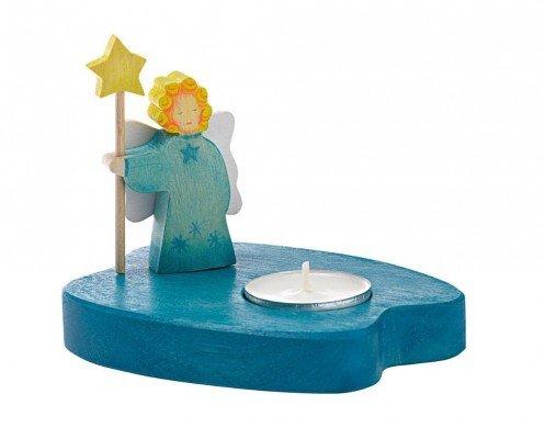 Preisvergleich Produktbild Ostheimer Teelicht mit Engel, blau