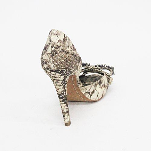 Sam Edelman alla moda, Peep Toe, tacco, con pietre e punte, misura 9 Bianco (bianco)