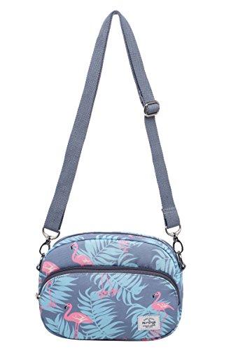 MIETTE Mädchen Kleine Umhängetasche Geldbörse Kuriertasche | 22x15x4,5 cm | Millennium Flamingos