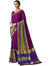 Sarees For Women Sarees New Collection Sarees For Women Latest Design Women's Wine Color Cotton Silk Jacquard...