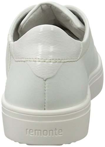 Remonte R7802, Scarpe da Ginnastica Basse Donna Bianco (Weiss/bianco/80)