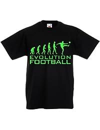lepni.me Camiseta Niños Niñas La Evolución del Fútbol - Copa del Mundo de  Fútbol f597f9b2fd7cc