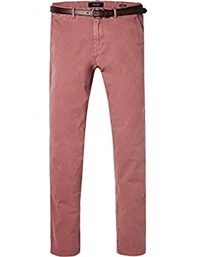Scotch & Soda Classic Garment Dyed Chino Pant In Stretch Cotton Quality, Pantalones para Hombre