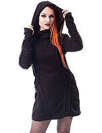 Vixxsin Night Stalker Gothic Skull Jumper Goth Punk Corset Long Sleeve Top