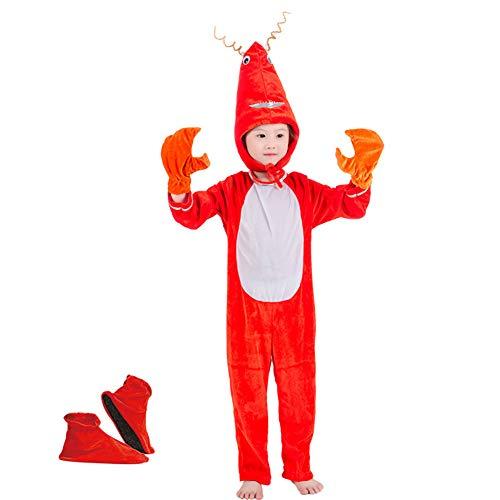 Kinder Garnelen Kostüm - LOLANTA Kostüm für Kinder Tierkostüm Kinderkostüm Jungen Mädchen Kinder-Faschingskostüme,Geburtstags-Geschenk Weihnachts-Geschenk