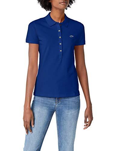 Lacoste Damen Pf7845 Poloshirt, Blau (Capitaine X0u), 44 (Herstellergröße: 46)
