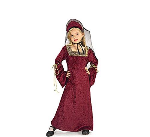 Tudor Dame Kostüm für Kinder Karneval - Tudor Damen Kostüm