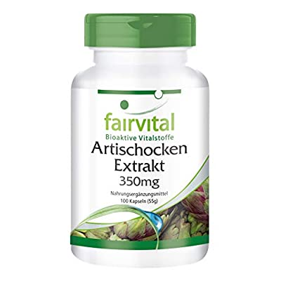 fairvital - Artichoke 350mg - High-Dosage with 2.5% Cynarine - 100 Vegetarian Capsules from fairvital