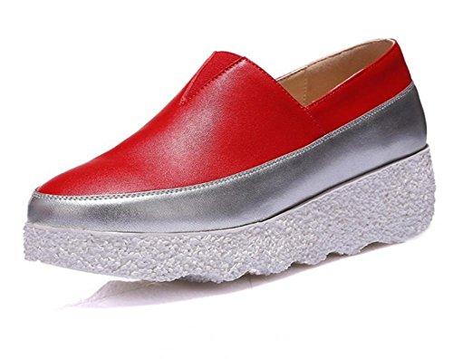 La signora della molla e scarpe autunno completano con le scarpe zoppi focaccina fondo pesante scarpe Red