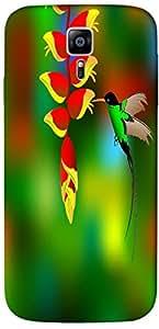 Timpax Protective Armour Case Cover. Multicolour Printed Design : A humming bird.Precisely Design For : Samsung Galaxy S6