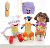 FidgetGear 5pcs Dora The Explorer Swiper Fox Boots Monkey Backpack Map Plush Toy Soft Doll