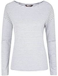 Mountain Warehouse Blossom Stripe Womens Tee - Lightweight Tshirt, Breathable Summer Top, Relaxed Fit, Casual, Easy Care Ladies Tee - for Spring Travelling, Walking, Gym