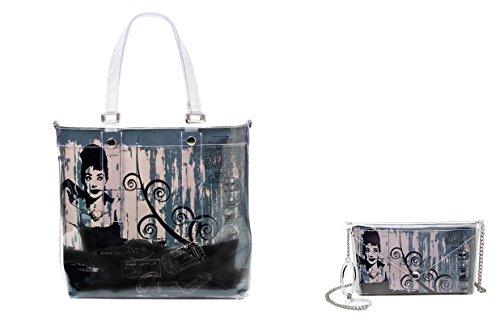 BI-BAG borsa donna modello EASY VINTAGE + pochette Verde Petrolio