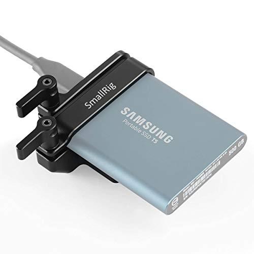 SMALLRIG Mount Bracket Seulement pour Samsung T5 SSD (Compatible avec SMALLRIG BMPCC 4K et 6K Cage 2203/2254 / 2255) - 2245