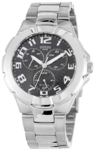Guess Gents Silver Multi Fuction Dial Bracelet Watch